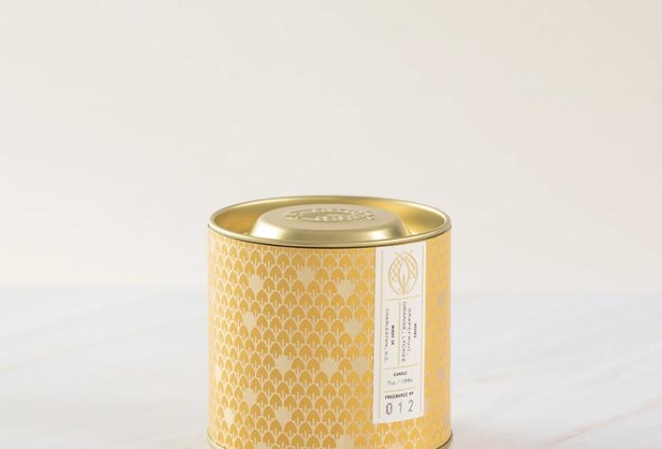 CANDLEFISH NO. 2 GOLD TIN CANDLE