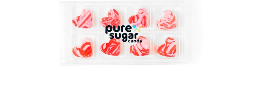 PURE SUGAR CANDY- LOVE POTION HARD CANDY HEARTS
