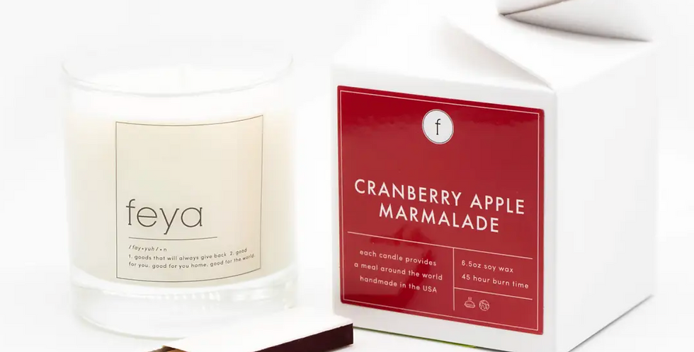 feya Candle- Cranberry Apple Marmalade
