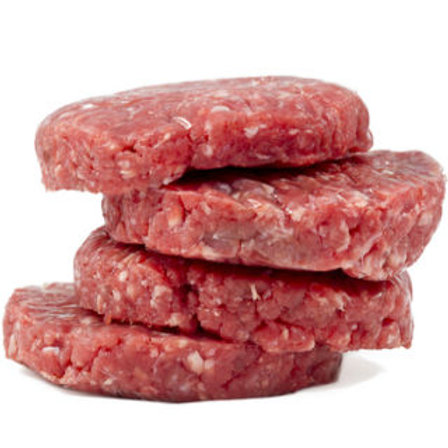 5 Pack Ground Beef Pack of 4 Patties per 1.00 lb pack