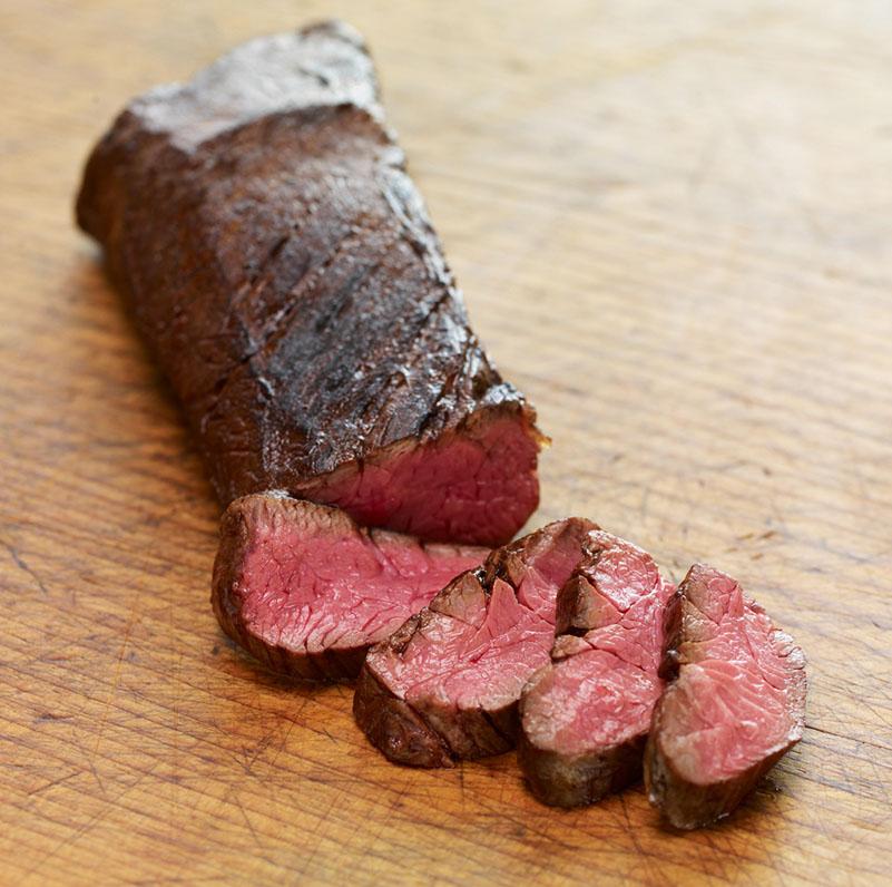 Beef-Hanger-Steak-Sliced-Cutting-Board