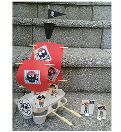 Bateau pirates oeufs
