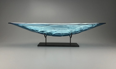 30 Inch Moonlit Lake Boat With Granite Pedestal