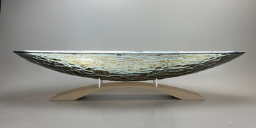40 Inch Longon Fog Platter with Arch Pedestal