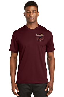 Dri Fit T Shirt Maroon