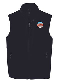 Men's regular vest style F219 with embroidered logo