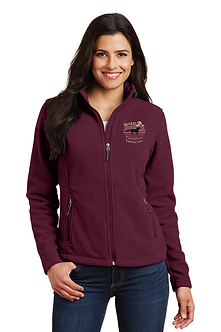 Ladies Fleece Jacket Maroon