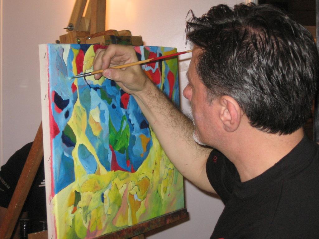 Pintando.Luis Formaiano