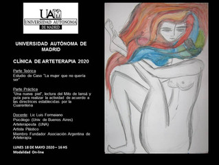CLINICA DE ARTETERAPIA 2020 EN LA UNIVERSIDAD AUTÓNOMA DE MADRID