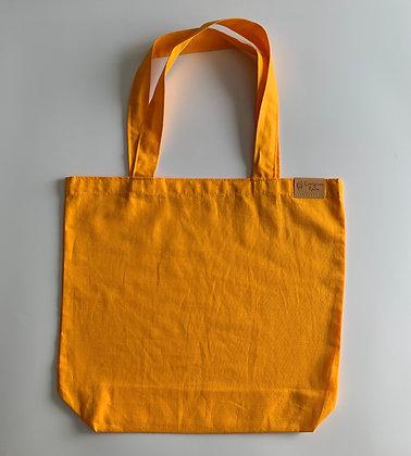 Апельсиновый шопер из хлопка