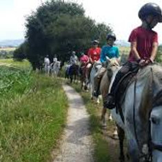 Horse riding in Santillana del Mar