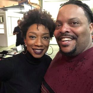 R.J. with actress/attorney Jalene Mack