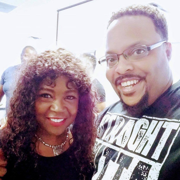R.J. with actress/producer Charnele Brown