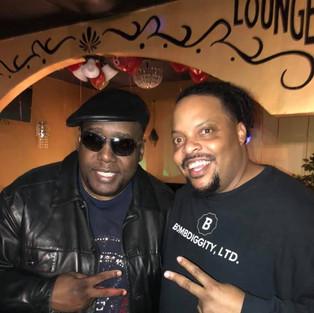 R.J. with legendary rapper Kool Moe Dee