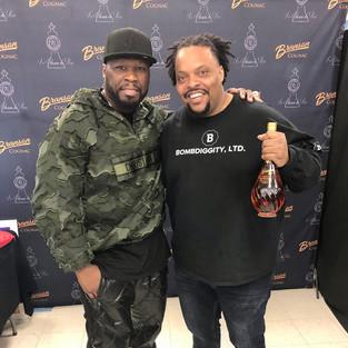 R.J. with rapper/businessman 50 Cent