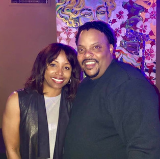 R.J. with actress/comedienne Ajai Sanders