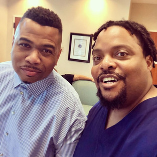 R.J. with actor Omar Gooding