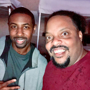 R.J. with actor/stuntman Jamal Dennis