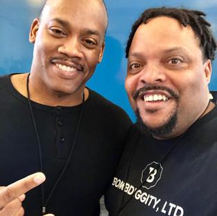 R.J. with filmmaker/director Greg Carter