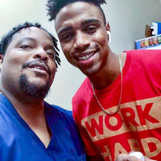 R.J. with actor Chris O'Neal