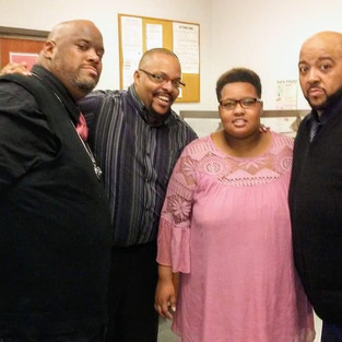 R.J. and his daughter Kianna with 90's R&B group, Men At Large