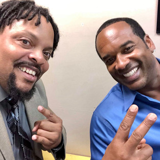 R.J. with actor/singer Andre Pitre