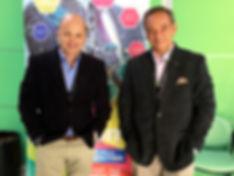 Gustavo Urrutia y Carlos Quintino Upcom.