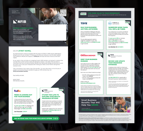 NFIB Promotional Folding Mailer