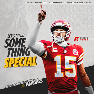 KC Chiefs Promotional Social Media Graphic