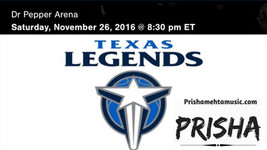 Open Texas Legends game with National Anthem!