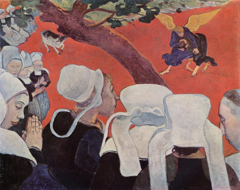 "Paul Gauguin, ""Vision After the Sermon"""