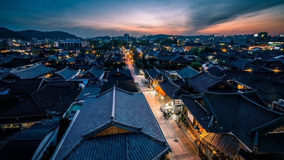 Sunset_In_Jeonju_South_Korea_Travel_Phot