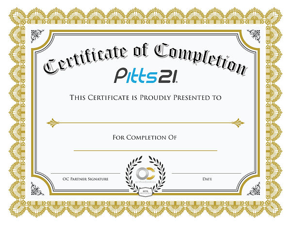 OC Partner Website Certificate Template.