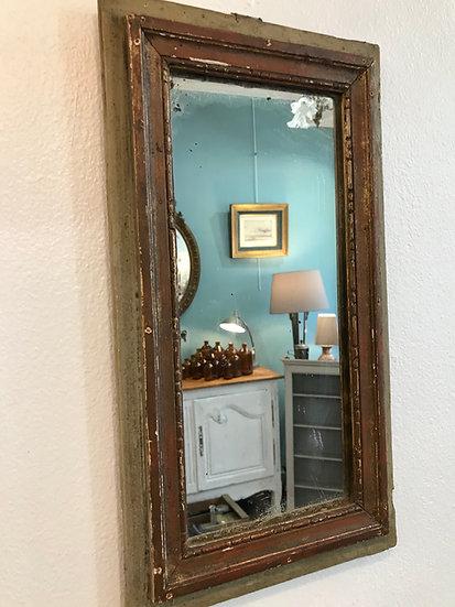 Petit miroir Louis XVI époque XVIII ème siècle en bois patiné d'origine