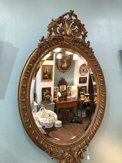 Miroir ovale du XIX ème siècle style Louis XV