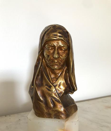 Bronze : la résignation signé G Dussart début XX ème