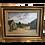 Thumbnail: tableau ancien huile sur panneau : une ferme en Bretagne époque début XX ème