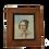 Thumbnail: Petit tableau ancien portrait à la gouache  époque XIX ème vers 1840