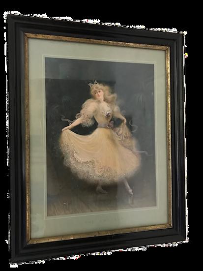 Lithographie d'après H Ludlow The Amateur époque XIX