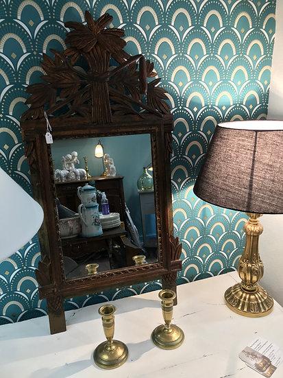 Ancien miroir en bois doré d'époque Louis XVI fin du XVIIIème