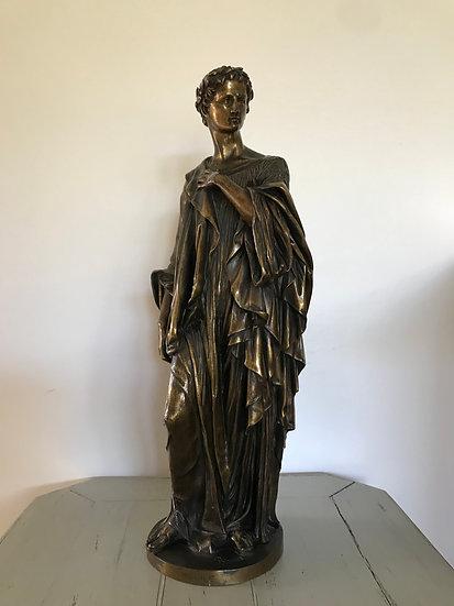 Statue Bronze Ancien de Virgile par VE Blavier époque XIX ème siècle
