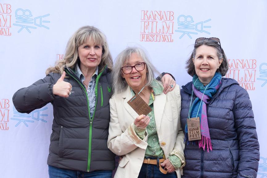 Filmmaker Nan and friends