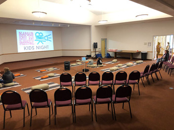 Kid's Screening setup