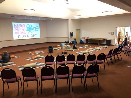 Kid's Screening setup