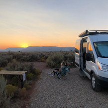 Camper sunset
