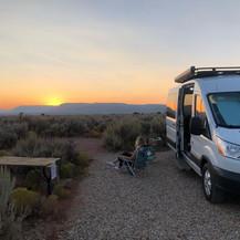 Camper sunset
