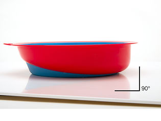 Eatwell, right angle side stop the user push food outside of bowls