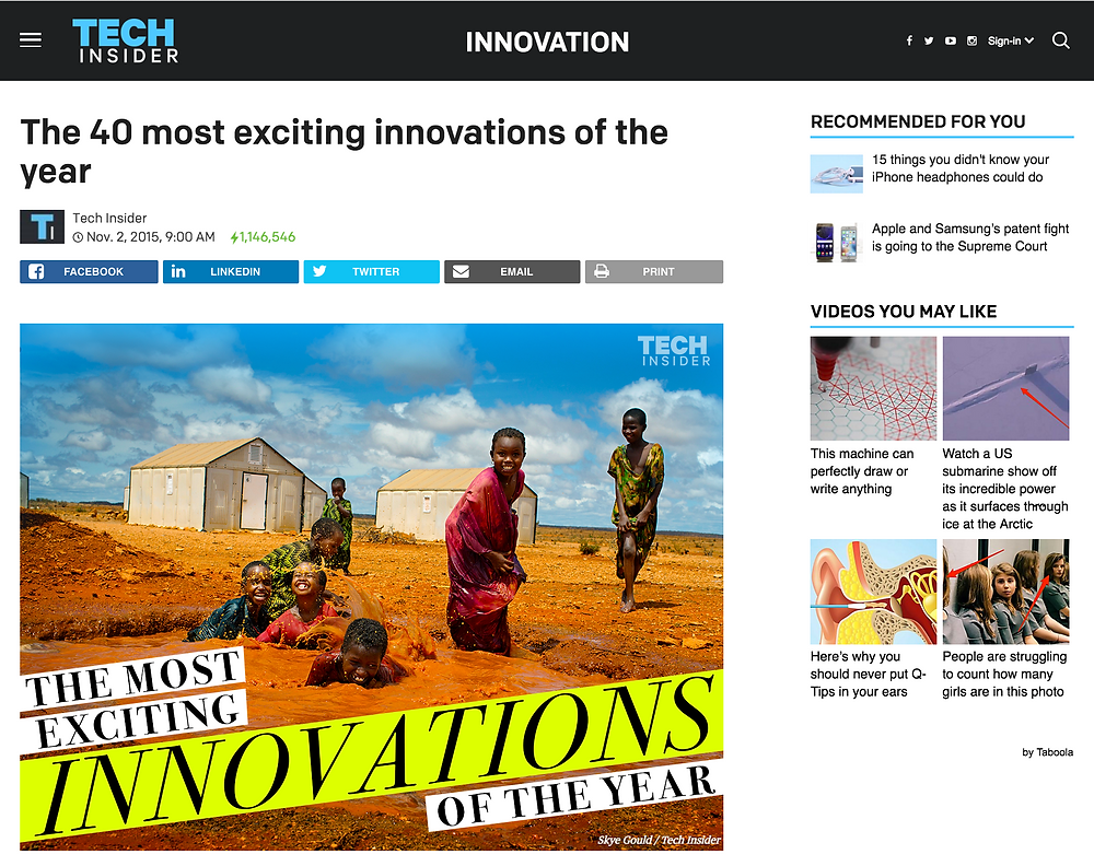 Eatwell is one of the 40 most exciting Innovations in 2014!