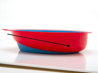Eatwell, slanted bottom bowl design, enable people to get food easier