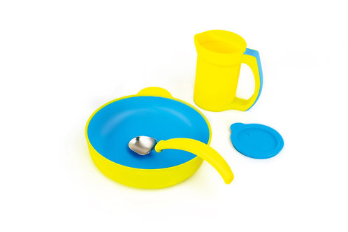 4-piece Eatwell assistive tableware set in Yellow